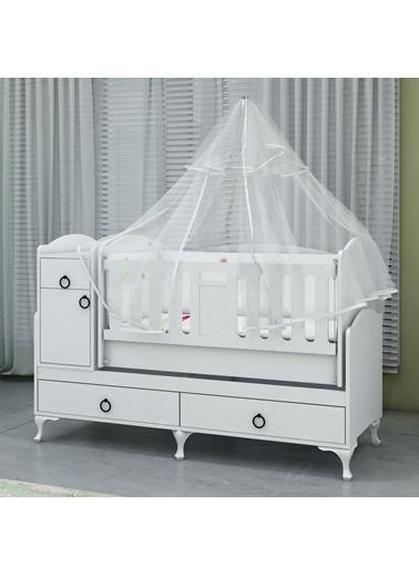 Garaj Home Garaj Home Sude Asansörlü Bebek Odası Takımı - Yatak Ve Uyku Seti Kombinli/ Uyku Seti Pembe Pembe